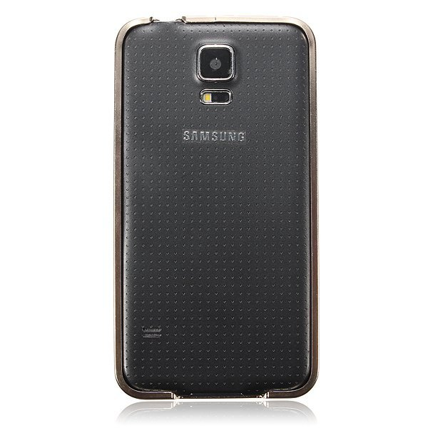 0.7mm Aluminum Metal Frame Bumper Case for Samsung Galaxy S5 i9600 G900F (Gold) (Intl)