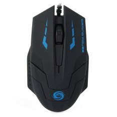 1.5m Cable 3D USB Wired Optical Gaming Mouse With 3000DPI For Desktop Laptop (Black)