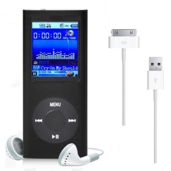 "1.8"" 8GB MP3 MP4 Slim Digital LCD Screen FM Radio Music E-book Video Player Black"