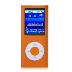 "1.8"" 8GB MP3 MP4 Slim Digital LCD Screen FM Radio Music E-book Video Player (Orange)"