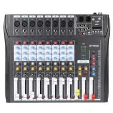 CT80S-USB 8 Channel Digtal Mic Line Audio Mixing Mixer Console with48V Phantom Power for Recording DJ Stage Karaoke Music Apprec - intl