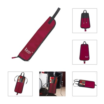 Drum Stick Bag Case Water-resistant 600D with Carrying Strap for Drumsticks Red - intl