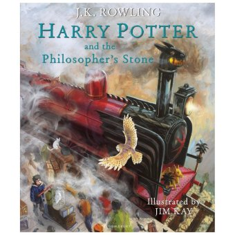Harry Potter and the Philosopher's Stone: The Illustrated Edition(Harry Potter, Book 1) | Buku Novel Import Bahasa Inggris