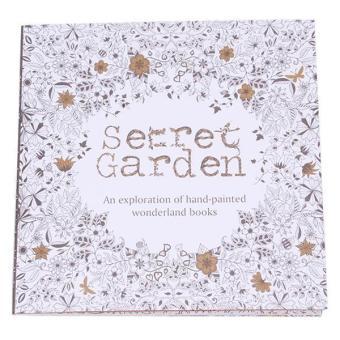 LALANG Secret Garden Treasure Hunt Mini Coloring Book Black And White