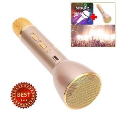 Magic Karaoke Microphone and Bluetooth Speaker KTV - Gold