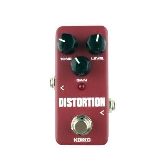 BolehDeals efek pedal Mini Supa berkendara dengan benar memotonguntuk gitar elektrik Merah Rp .