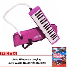 Yamada Pianika Alat Musik Tiup - Tas Kain Pink