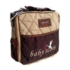 Baby Scots Tas Embroidery Simple Bag - Cokelat