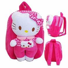 Onlan Tas Ransel Anak Boneka Hello Kitty Bahan Halus Lembut - Pink