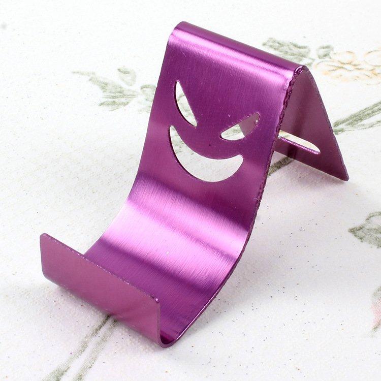 10pcs/lot Colorful evil smile metal stents Aluminum alloy devil phone support Samsung apple millet mobile phone (Intl)
