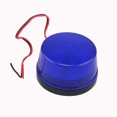 12v Alarm Led Flashing Strobe Light For Home Security Alarm System Blue (Intl)