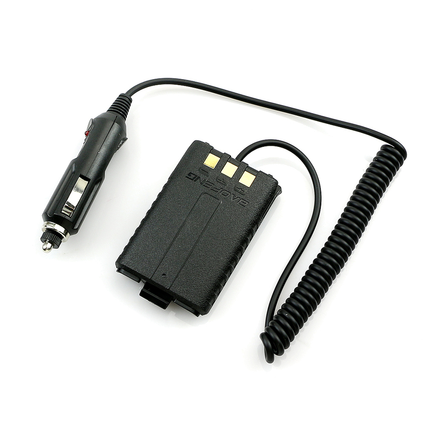 12V Car Charger Battery Adapter Eliminator For BAOFENG UV5R Plus UV5RB UV5RC A52 (Intl)