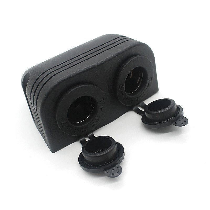 12V Dual USB Car Cigarette Lighter Socket Charger Power Adapter Outlet (Black) (Intl)