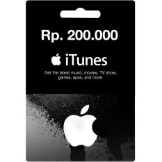 iTunes Gift Card Region Indonesia Rp. 200.000,-
