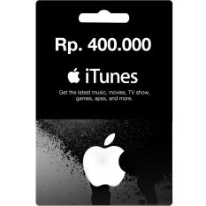 iTunes Gift Card Region Indonesia Rp. 400.000,-