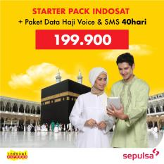 Starter Pack Indosat & Paket Data Haji Voice & SMS 40 Hari