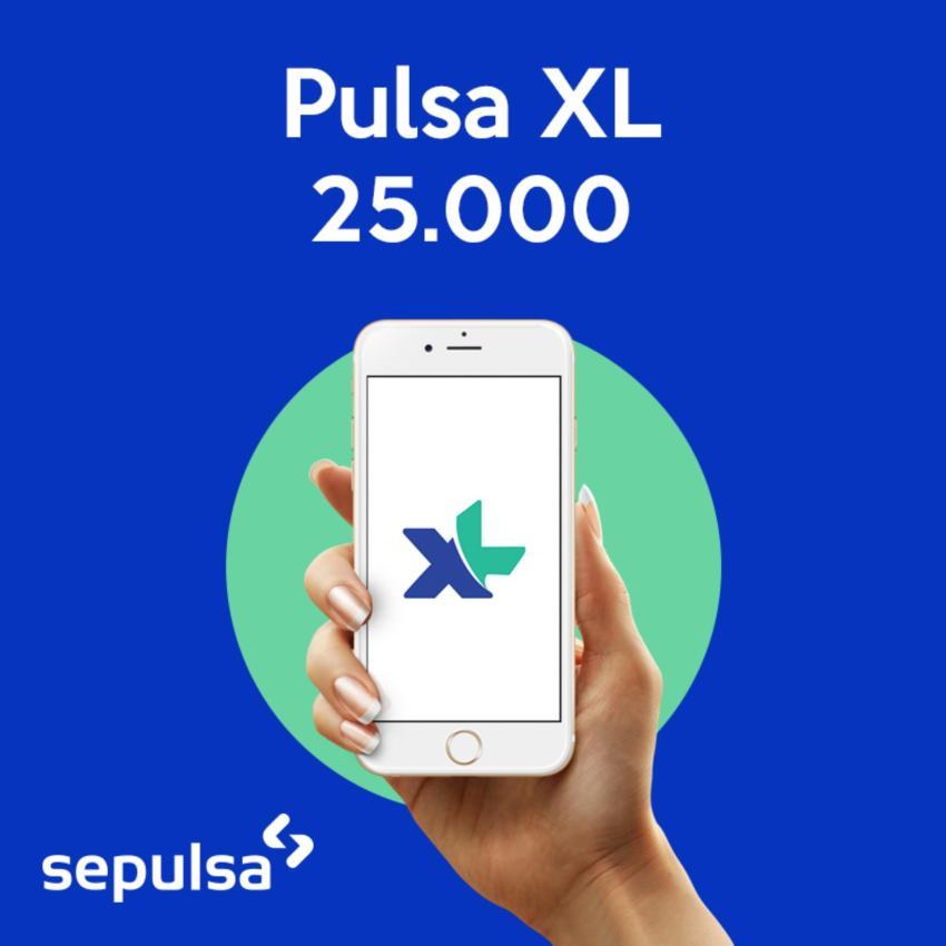 XL Pulsa Electric XL Reg Rp. 25.000 (Max. 1 kali Pembelian Per Nomor Handphone)