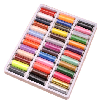 39 Assorted Color Polyester Sewing Thread For Home Using DIY (Multicolor)