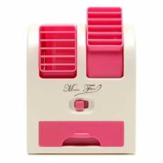 AC Mini Duduk Portable Double Blower Warna Pink