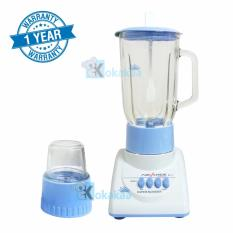 Advance Blender BT-X Bahan Kaca Low Watt with Grinder 2 in 1 - Biru Putih