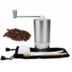 Aluminum Stainless Steel Manual Coffee Bean Grinder Mill Kitchen Grinding Tool Portable Coffee Set Suite For