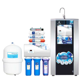 AQUALIFE Water Purifier Cabinet Dispenser 9 Stage 100 GPD Filter Saringan Air Langsung Minum Reverse Osmosis RO - Hitam