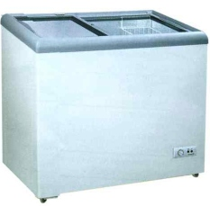 Gea SD-186 Freezer Kaca Datar / Sliding Flat Glass Freezer - Putih