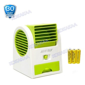 Kokakaa Mini AC Cooling Fan Portable Battery Bundle - Hijau
