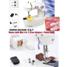 Mesin Jahit Kecil Listrik Pedal Mini Portable Electric Sewing Machine