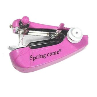Mini Manual Sewing Household Machines / Mesin Jahit - Mk02 - Pink (Pink)