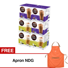 Nescafe Dolce Gusto 6 Box Coffee Capsules Free Apron NDG