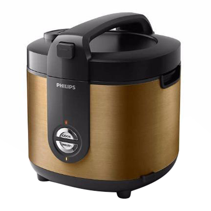 Philips Rice Cooker Stainless Proceramic HD 3128 - Gold