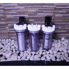 Ronaco Full set 3 buah Filter air dengan carbon dan sediment