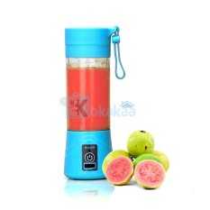 Shake and Go Juicer Tumbler Rechargeable and Powerbank - Biru