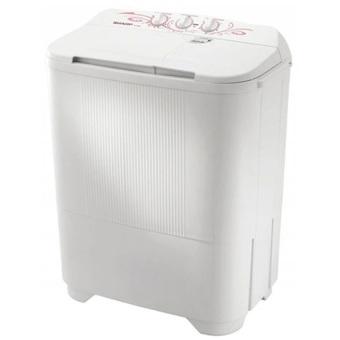 Sharp Mesin Cuci 2 Tabung EST65MWPK - Putih-Pink