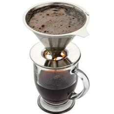 Stainless Steel Drip Coffee Filter Reusable Pour Over Single Serve Cup Brewer - intl