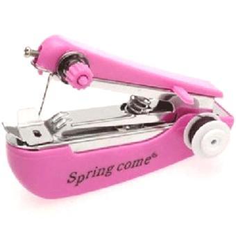 Universal Mini Manual Sewing Household Machines / Mesin Jahit - Pink (Pink)