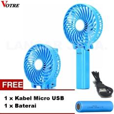 Votre Kipas Angin Mini Portable Handy Fan Rechargeable Kipas Angin Mini Lipat + Gratis Kabel Micro
