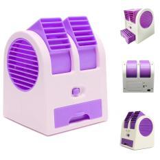 Wanky AC Mini Portable Aroma Therapi Double Blower Ungu .