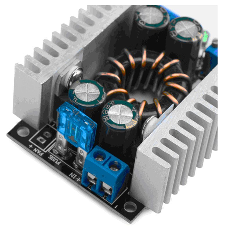 150W DC Boost Converter Power Transformer Module Voltage Regulator Board 10-32V/8-16V to 8-46V 12/24V Step-up Volt Inverter Controller Stabilizer for Car Automotive Vehicle Motor Generator (Black) (Intl)