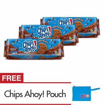 Chips Ahoy Chocolate Chip Biskuit, Rasa Chocolate, Isi 3 Pak, 84g Masing-masing (Total 252 g)