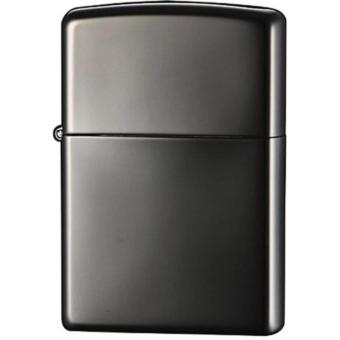 Korek Api Zippo Regular Anti Angin Metal - Hitam