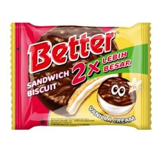 Mayora - Better Sandwich Biscuit Vanilla Cream Paket Isi 10