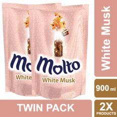 Molto Pelembut Dan Pewangi Pakaian White Musk 900ml Twin Pack