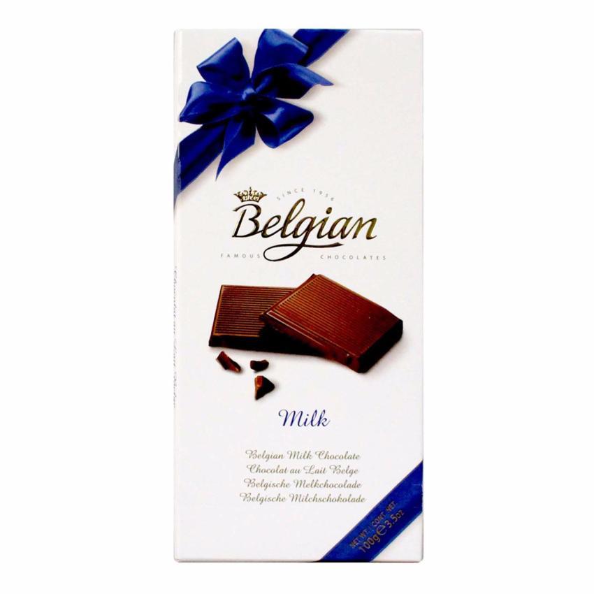 The Belgian Milk Chocolate Coklat Susu Belgian 100g