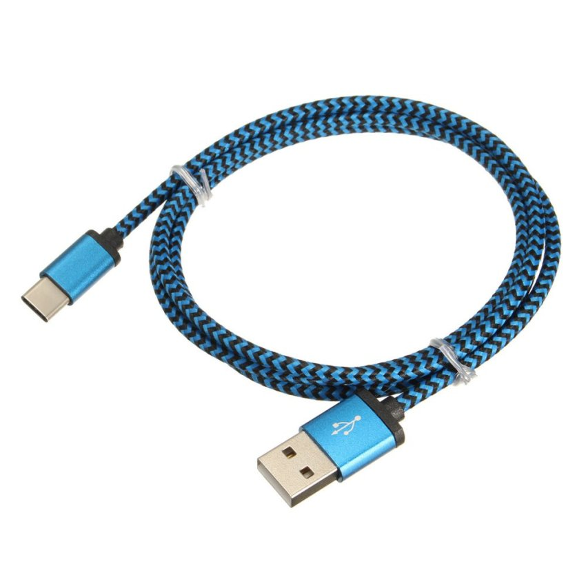 1M/3.3FT Type C Male To USB 2.0 A Male USB 3.1 Data Sync Charger Converter Cable DarkBlue (Intl)