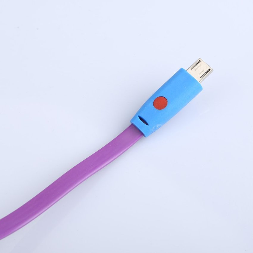 1M LED Smile Face USB Data Sync Charger Cable for Samsung HTC