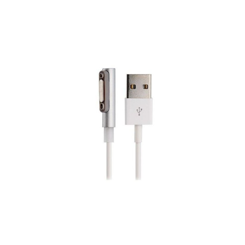 1m Magnetic USB Charging Data Cable with LED Light for Sony Xperia Silver