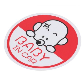 1pcs Vinyl Cute Girl Baby In Car Safety Sign Auto Car