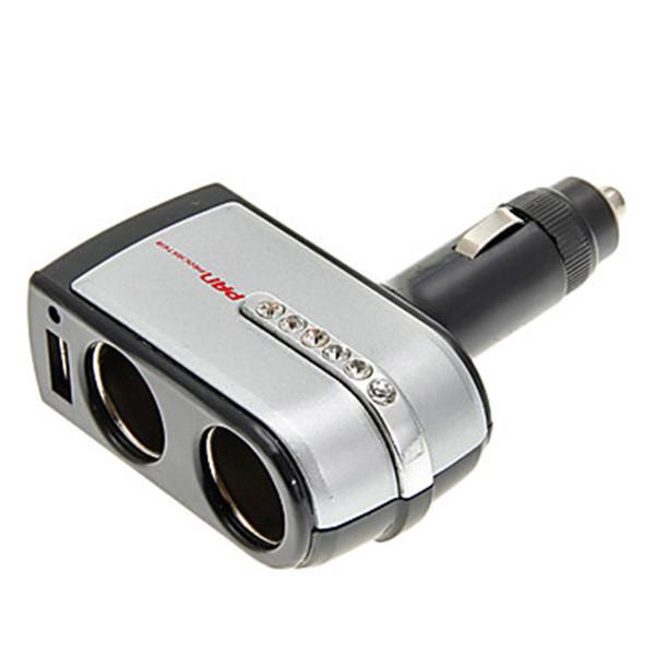 2-in-1 12V/24V DC Car Cigar Cigarette Lighter Double Power Adapter Socket Splitter (Intl)